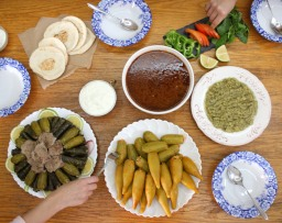 Vine Leaves Stuffed with Beef and Rice (warak inab)